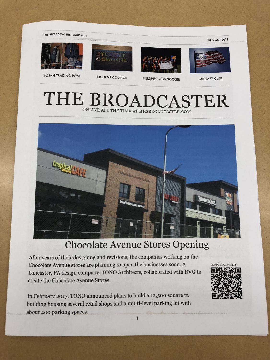 The first issue of the Broadcaster newsletter is pictured on October 30, 2018.  After a five year hiatus, The Broadcaster returned to print.  (Broadcaster/Robert Sterner)