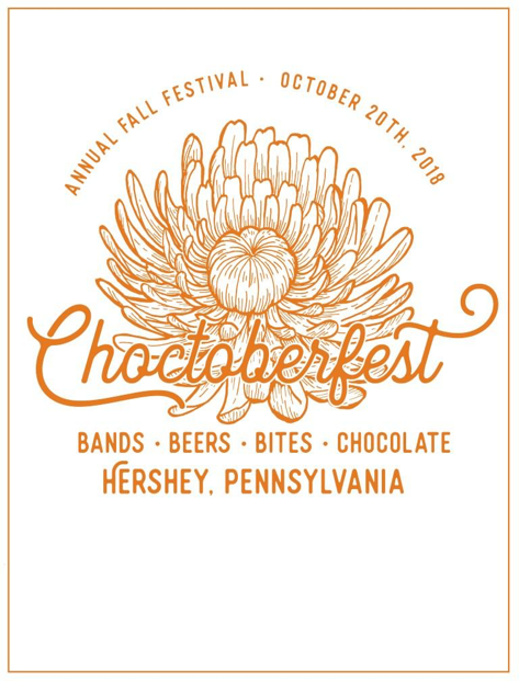 "The 4th annual Choctoberfest will be held on October 20, 2018. The slogan for this event is ""bands, beers, bites, and chocolate."" (Downtown Hershey Association)"