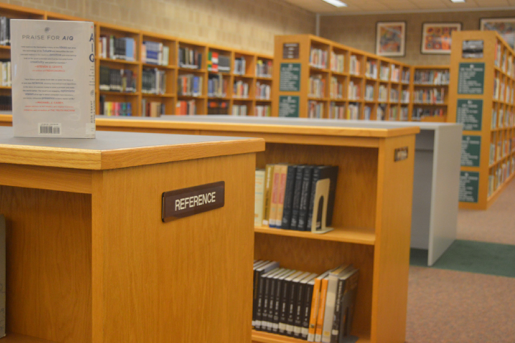 The library now has a larger space for reference books. Students can make use of these books to complete research projects. (Broadcaster/Emily Liesch)