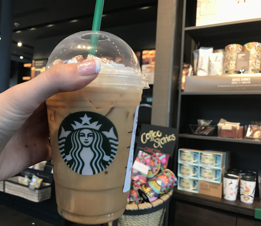 Pumpkin Spice Lattes with whipped cream are 440 calories. The new Starbucks is located at 169 West Chocolate Ave #303, Hershey, PA. (Broadcaster/Clare Canavan)