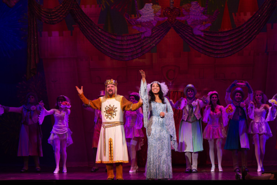 Pictured above is a photo of Spamalot performing a number for their show. Spamalot was written by actor, singer, song writer, and playwright Eric Idle. (Spamalot on Tour)