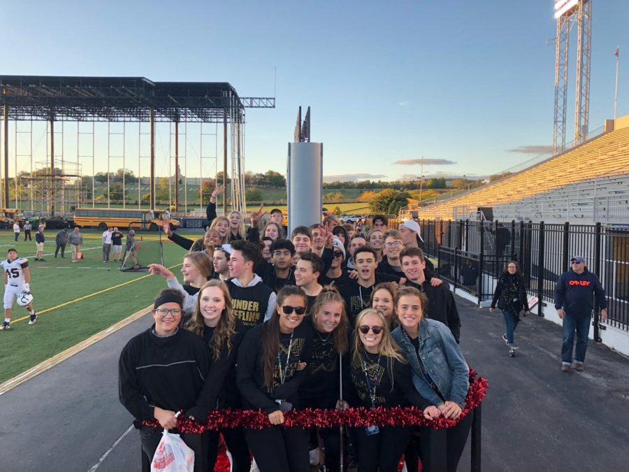 The HHS seniors ride their class float for the last day of spirit week before the homecoming football game. HHS students wore their class T-shirts and concluded spirit week on Friday, October 4, 2019. (Submitted by Moosa Qureshi)