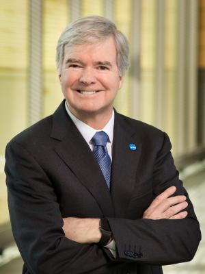 President of the NCAA Mark Emmert poses for a picture. On Tuesday, the NCAA started the process of allowing college athletes to profit from their image. (NCAA)