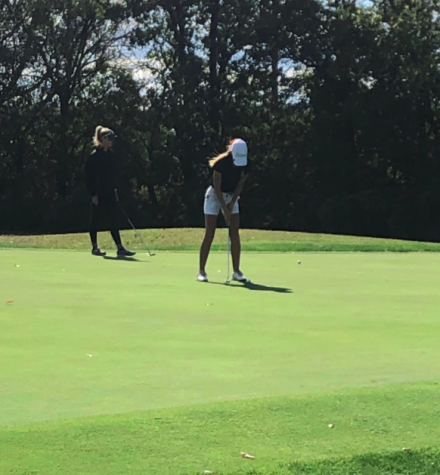 Amanda Gerrish has been competing in tournament golf for five years. She placed in the Mid-Penn, District, and State match. (Photo by Michele Gerrish)