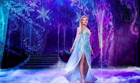 "Ciara Renee portraying her role as Elsa during the song ""Let it Go"". Elsa was previously portrayed by Caissie Levy. (Frozen on Broadway)"