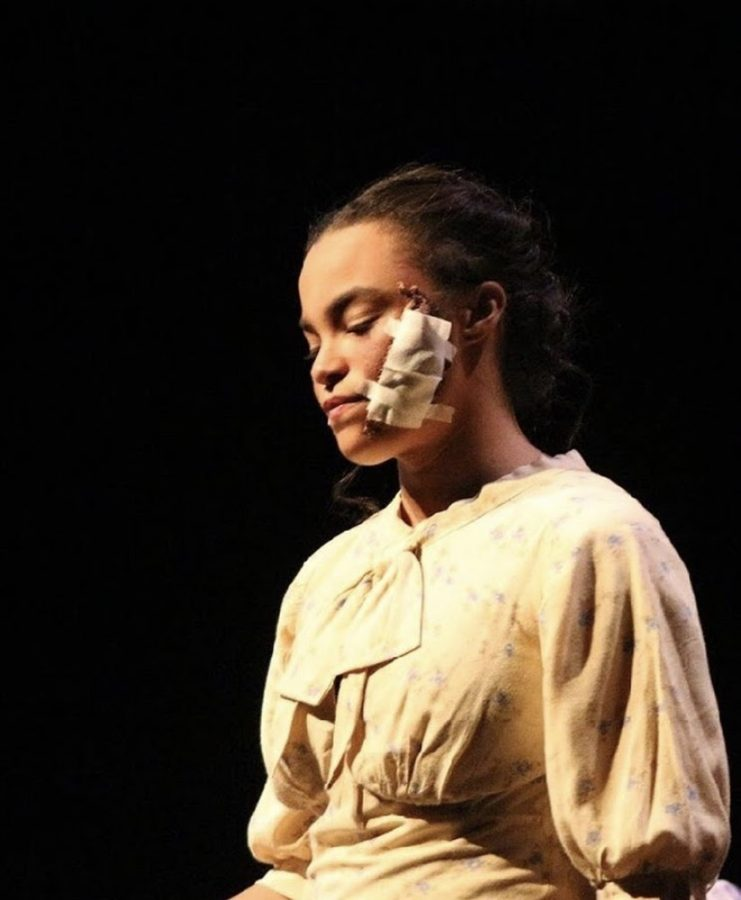"Jaelissa Akers during a performance of Radium Girls. Akers is nominated for ""Outstanding Lead Actress in a Play."" (Broadcaster/Elena Lee)"