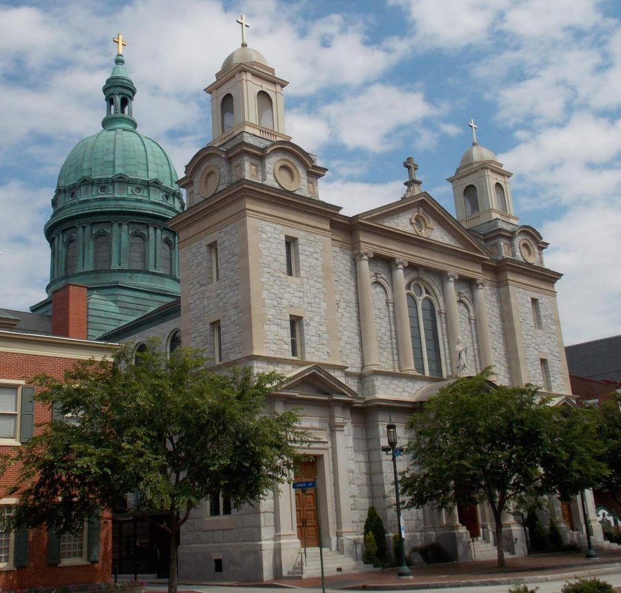 Pictured is the Cathedral of Saint Patrick in Harrisburg, Pennsylvania and serves as the mother church for the Harrisburg Diocese.  The Harrisburg Diocese filed for chapter 11 bankruptcy protection.  (Farragutful/CC BY-SA 4.0)