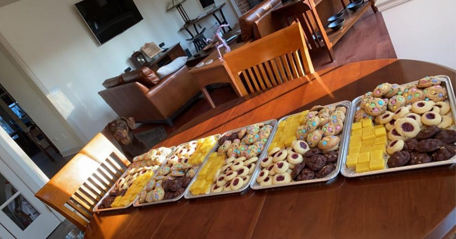 The Hans prepared five trays of baked goods to take to the hospital staff at Penn State Hershey Medical Center. Abby Han hopes to inspire others to be creative and engage in small acts of kindness for our community. (Submitted by Abby Han)