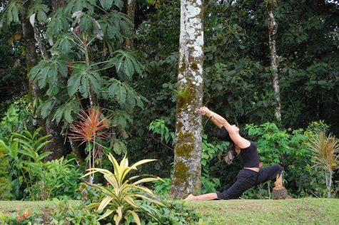 The woman is doing yoga outdoors as a way to stay mindful. Yoga has the ability to prepare you for whatever tasks lie ahead. (Jon Fife/CC By-ND 2.0)
