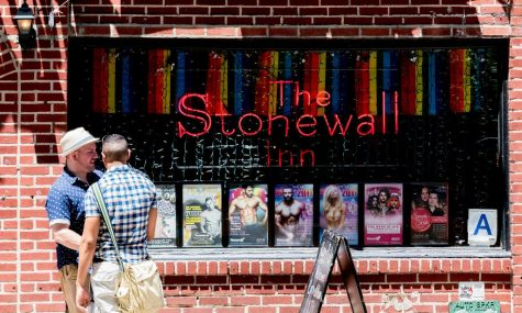 Pictured is the Stonewall Inn during Pride Week in 2017.  The Stonewall Riot was a pivotal moment in LGBT+ history.  (Victoria Pickering/CC BY-NC-ND 2.0)