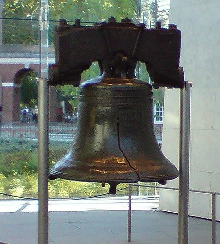 Philadelphia, Pennsylvania is home to the Liberty Bell. The bell serves as an iconic symbol of the United States' independence. (KariRippetoe)