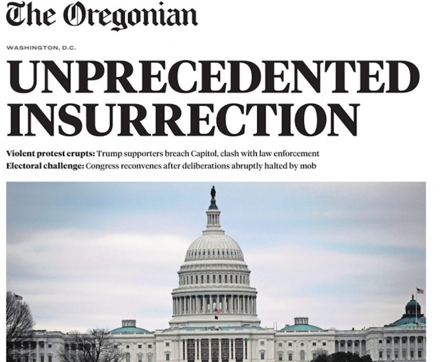 Newspaper+front+pages+from+around+the+world+document+insurrection+at+U.S.+Capitol