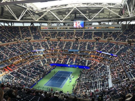 Pictured in 2019, Arthur Ashe Stadium hosts the finals for the US Open Tennis Championship each year.  NY Governor Bill DeBlasio has authorized the competition for 2021 as the pandemic continues to wane. (Jen Gallardo/CC BY-NC-ND 2.0)