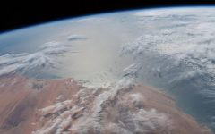 The Atlantic Ocean viewed from space. The ocean covers 71% of the globe, according to the National Oceanic and Atmospheric Administration (NOAA). (NASA Johnson)