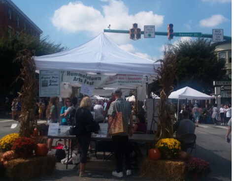 The festival features art booths, a food court, and other entertainment. Proceeds raised from the event are going to scholarships for Lower Dauphin students. (Ashley Bu/HHS Broadcaster)